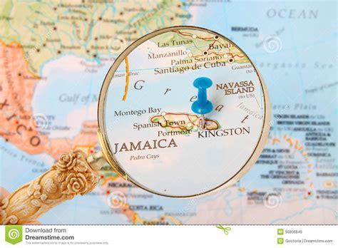 Kingston, Jamaica Map Stock Image. Image Of Studying