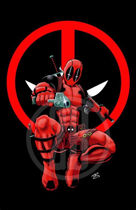 deadpool black  logo background  storenvy