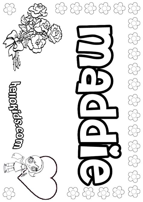 liv and maddie coloring pages name coloring pages maddie girly name to color