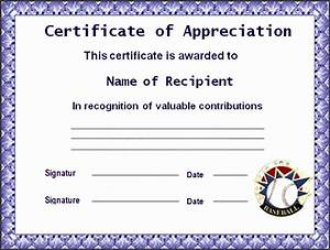 9 ms word certificate of appreciation template With microsoft word certificate of appreciation template
