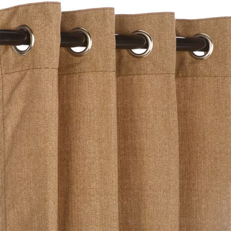 sunbrella curtains with grommets linen sesame grommet sunbrella outdoor curtains