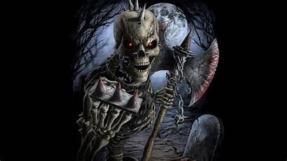Skull 3d Background Warrior 4k Wallpapertag