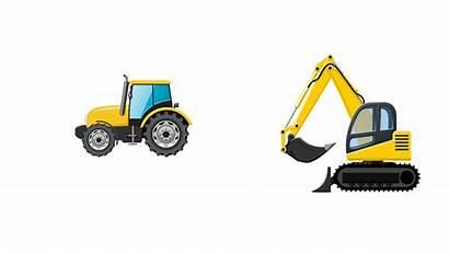 Excavator Clipart Vector Bulldozer Loader Transparent Truck