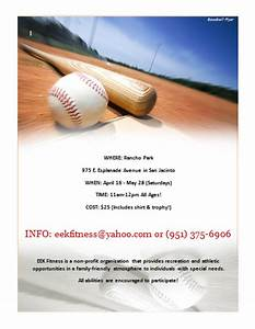 20 best free sports flyer templates demplates for Softball flyer template
