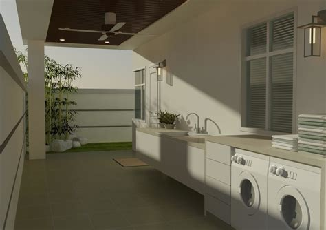 Outdoor Laundry Modern Penang Malaysia With