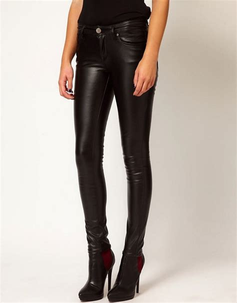river island super skinny leather  jeans asos