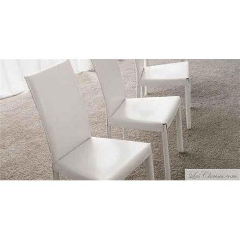 chaise design blanc chaises cuir blanc flina et chaise en cuir midj design