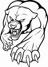 Panther Fierce Coloring Printable Draw Tattoo Animals Categories sketch template