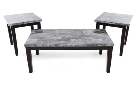 Relevancy collection lowest price highest price. Three-Piece Contemporary Coffee Table Set in Black ...