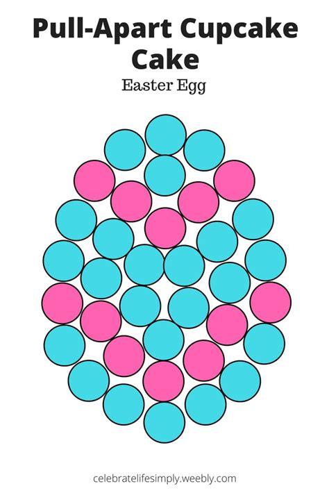 easter egg pull  cupcake cake template celebrate