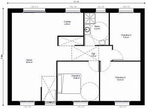 Plan Maison Individuelle 3 Chambres 104 H Habitat Concept