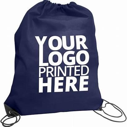 Drawstring Promotional Bags Premium Navy Hotline Bag