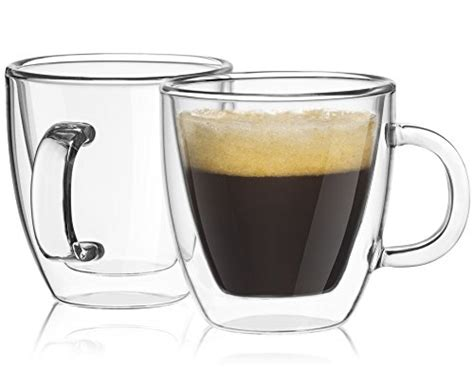 Joyjolt Savor Double Wall Insulated Glasses Espresso Mugs Calories In Greggs Coffee Mate Uk Mcdonalds Creamer Powder Butter Bulletproof Vs Cream Decaf With Milk Sugar And