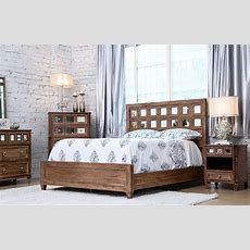 Frontera Rustic Oak Panel Bedroom Set, Cm7586q, Furniture