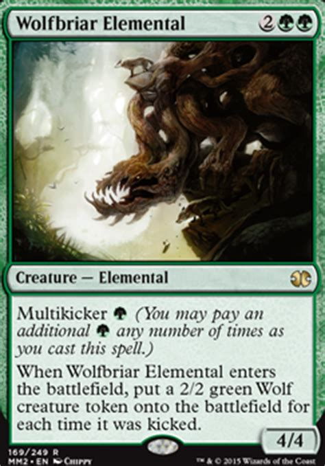 Green White Token Deck Tapped Out by Wolfbriar Elemental Mtg Card
