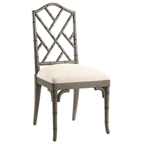 chippendale regency grey bamboo dining
