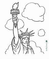 Statue Liberty Coloring Printable Below sketch template