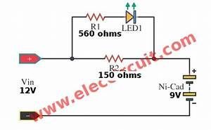 Simple Nicad Battery Charger Circuit By Little Part