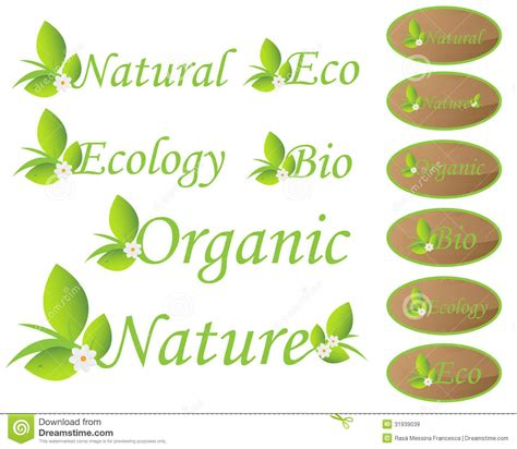 Nature And Ecology Labels Royalty Free Stock Images  Image 31939039