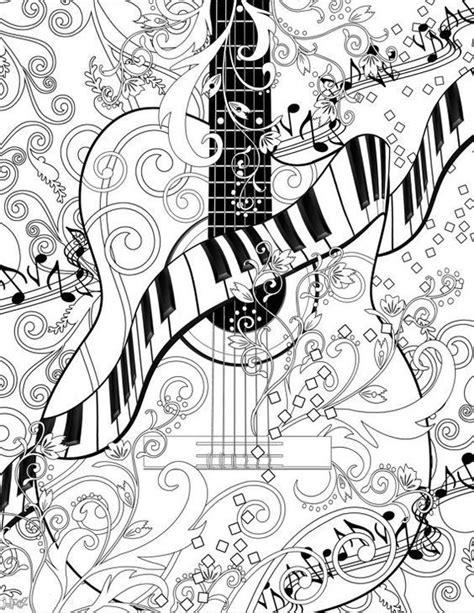 adult coloring page printable adult guitar   juleezgallery design kids coloring