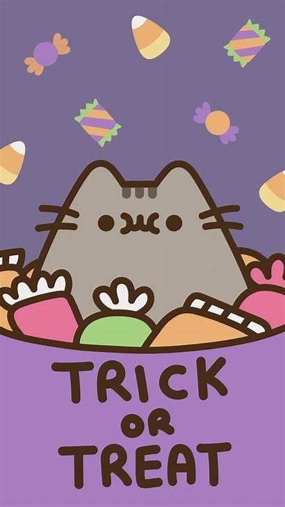 Pusheen Kawaii Halloween Wallpapers Trick Cat Desktop