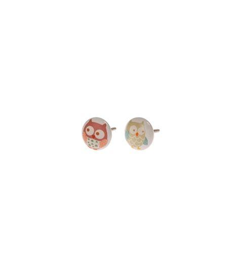 bouton de tiroir enfant boutons de meubles hiboux pour enfant lot de 2 boutons mandarine