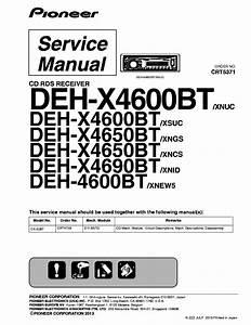 Pioneer Deh X4600bt Wiring Diagram Pioneer Deh