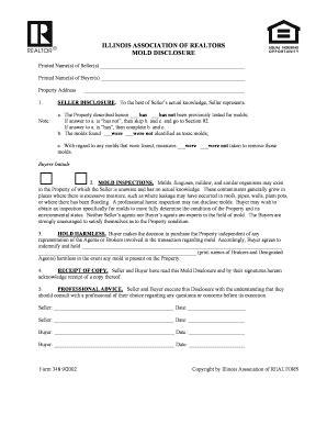 illinois association of realtors forms illinois mold disclosure fill online printable