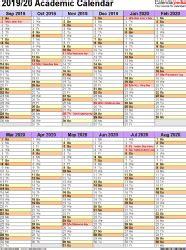 academic calendars   printable word templates