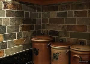 Slate Backsplashes For Kitchens Brown Slate Mosaic Backsplash Tile