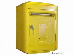 Boite Colis Poste Dimensions : boites aux lettres officielle de la poste jaune almateon ~ Nature-et-papiers.com Idées de Décoration