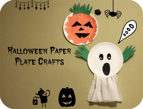 paper plate ghost craft for preschoolers 345 | Halloween Ghost Paper plate craft