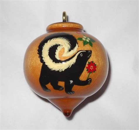 personalized skunk ornament wooden christmas ornament skunk