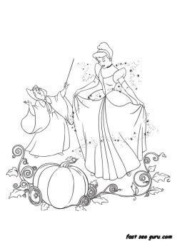 printable disney characters cinderella   fairy