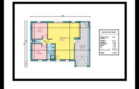 Plan Maison 2 Chambres - plan de maison 2 chambres avec mezzanine