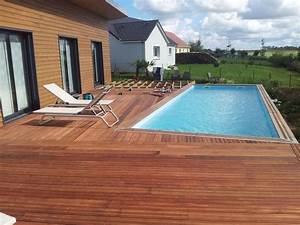 terrasse avec piscine en bois With photo terrasse bois piscine 4 structure terrasse b wood