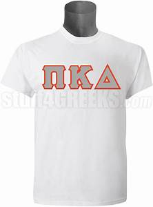 pi kappa delta men39s greek letter t shirt white With kappa delta stitched letter shirts
