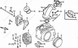 Honda Motorcycle 1982 Oem Parts Diagram For Cylinder Head