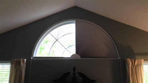 fan shaped window shades movable blind for arch shaped window by blind builders
