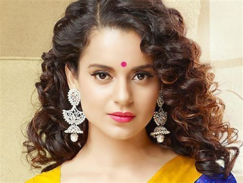 Kangana Ranaut Curly Hairstyles Pictures   New Natural