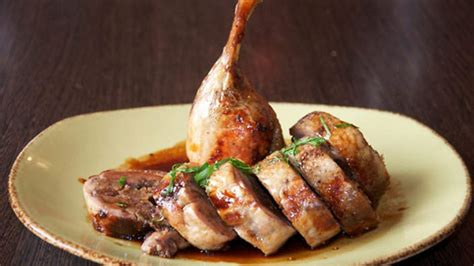 top 10 cuisines in the cooked rolled duck stuffed with couscous fig