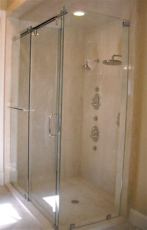 shower doors of houston frameless hydroslide shower enclosure contemporary