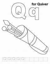 Quiver Coloring Pages Printable Letter Handwriting Sheets Colouring Alphabet Practice Letters Words Sketch Template sketch template