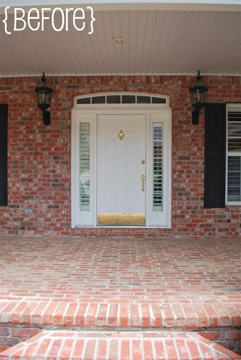 brick house door color size of what color to