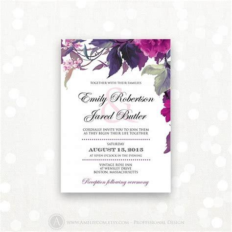 printable wedding invitation lilac purple weddings
