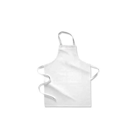 tablier et toque de cuisine tablier de cuisine enfant blanc