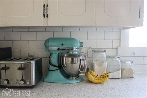 cheap diy kitchen backsplash hometalk diy cheap subway tile backsplash