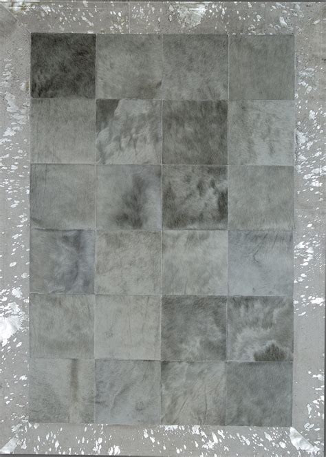 large grey rug light grey border acid silver cowhide rug from the