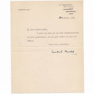 winston churchill signed authentic genuine signature letter With churchill letters