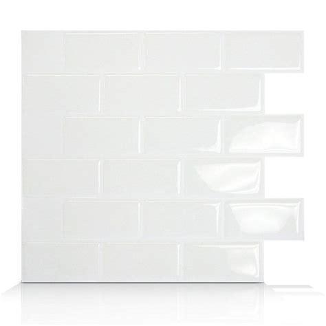 shop smart tiles sm102 subway self adhesive wall tile at